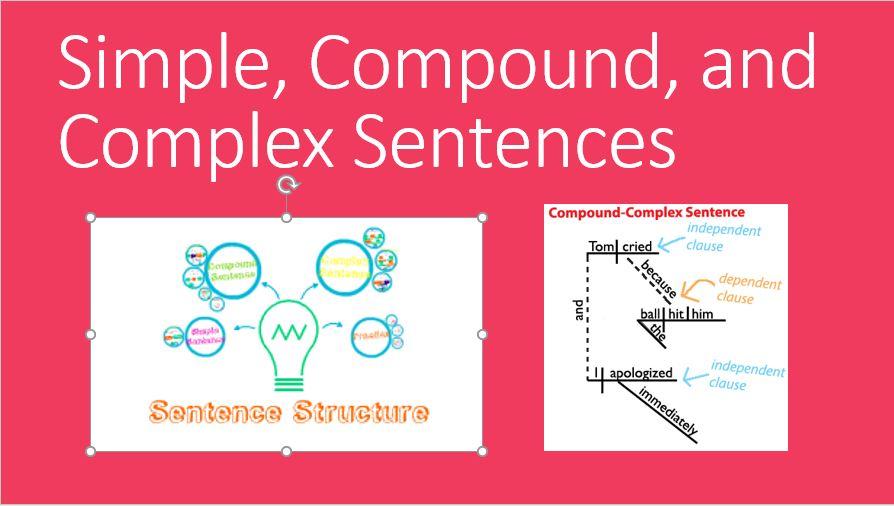 Simple, Compound, Complex Sentences - The Teachers\u0027 Library