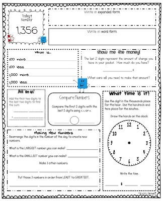 Number of the Day - Free Printable! (20 pages) - The Teacher Treasury