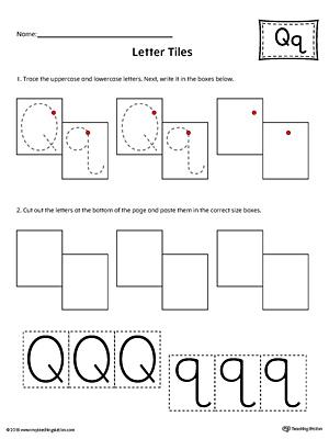 letter q worksheets - Ecosia