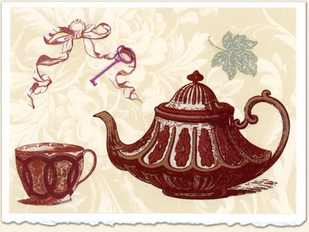 Wabi Ware Victorian Key Card The Tea Table