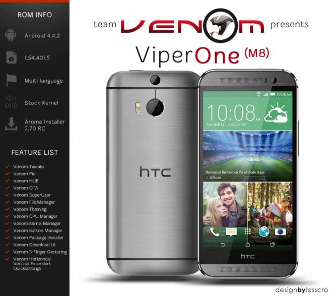 ViperROM ROM for One M8