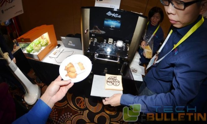 Cookies printed with 3D printer in a cafe at LAs Vegas