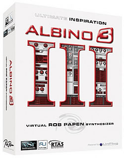 LinPlug Albino 3 by Rob Papen reviewed by MC Rebbe The Rapping Rabbi in The Technofile