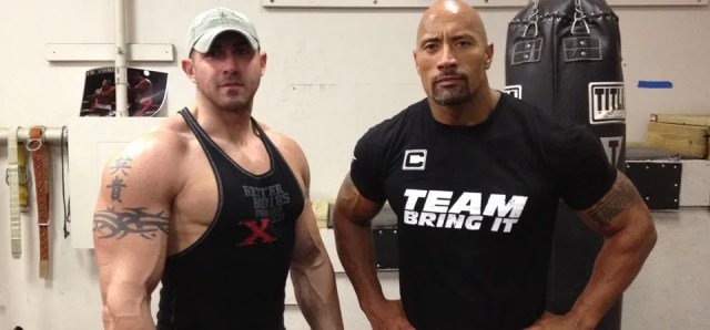 Aaron Williamson and Dwayne Johnson