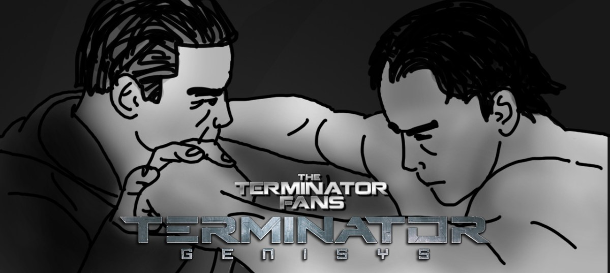 Exclusive: Terminator Genisys Arnold Vs Arnold T-800 Poster Concept