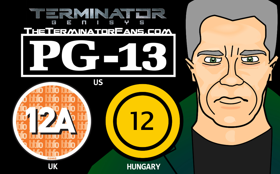 Age Rating 12a 12a Terminator Genisys uk Age