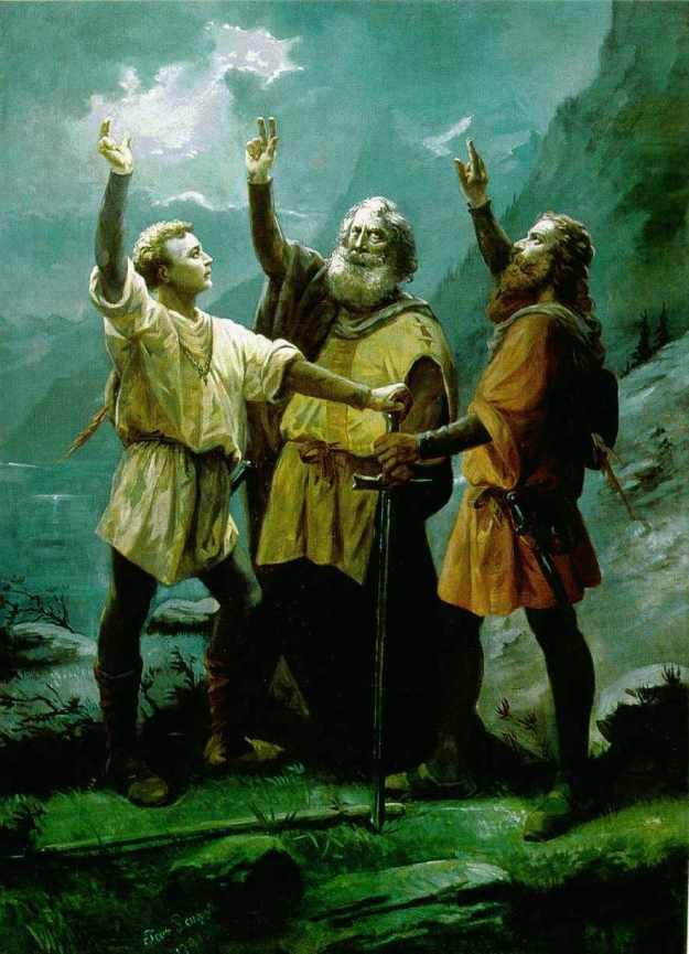Schwur auf dem Rütli by Jean Renggli (1891)-The Thinker's Garden