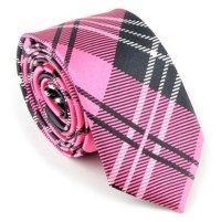 Pink and Black Skinny Tie  The Tie Rack Australia