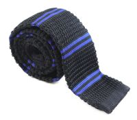 Black and Royal Blue Knit Tie  The Tie Rack Australia ...