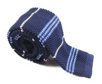 Navy, White and Light Blue Knit Tie  The Tie Rack ...