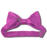 Solid hot pink bow tie - Satin - Pre-Tied - Wholesale ...