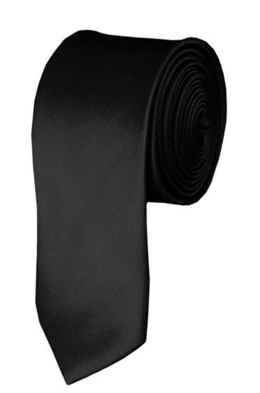 Skinny black ties - Satin - Pre-Tied - Wholesale prices no minimums