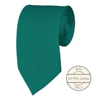 Extra Long teal green ties - Satin - Pre-Tied - Wholesale ...