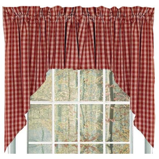 Homespun Country Curtains - country valances for living room