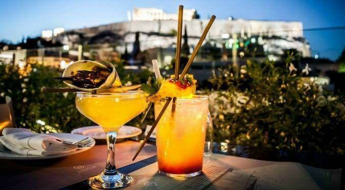Cocktails in Heaven:Point α Athens' Best Rooftop Bar