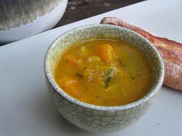 Paleo Vegan Japanese Winter Squash and Leek Soup