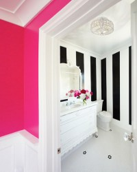 The Black and White Striped Wall | Inspiration | The ...