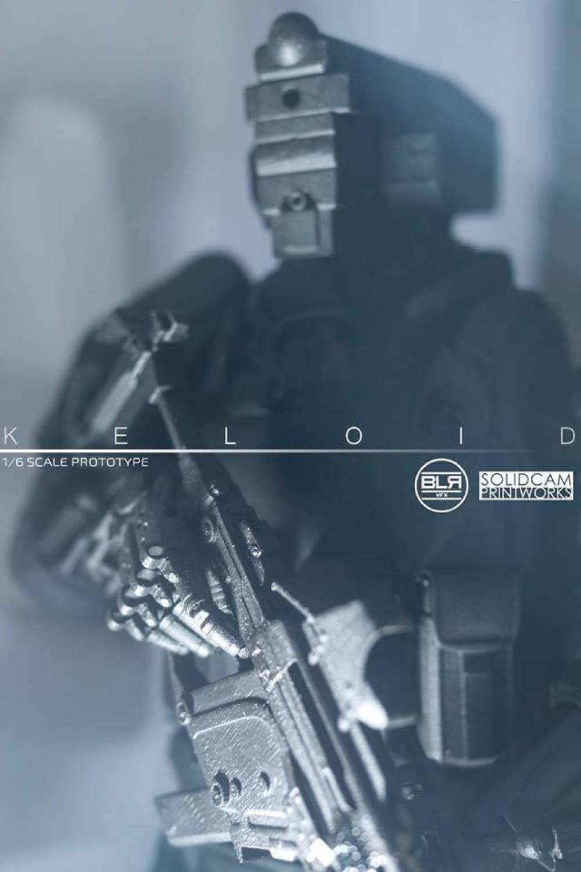 SWAT cop SolidCam Estudio VFX big lazy robot Keloid poster