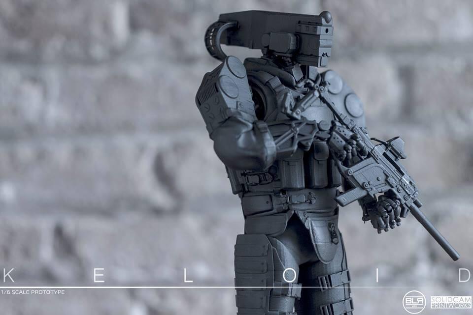 SolidCam Estudio VFX big lazy robot Keloid wide