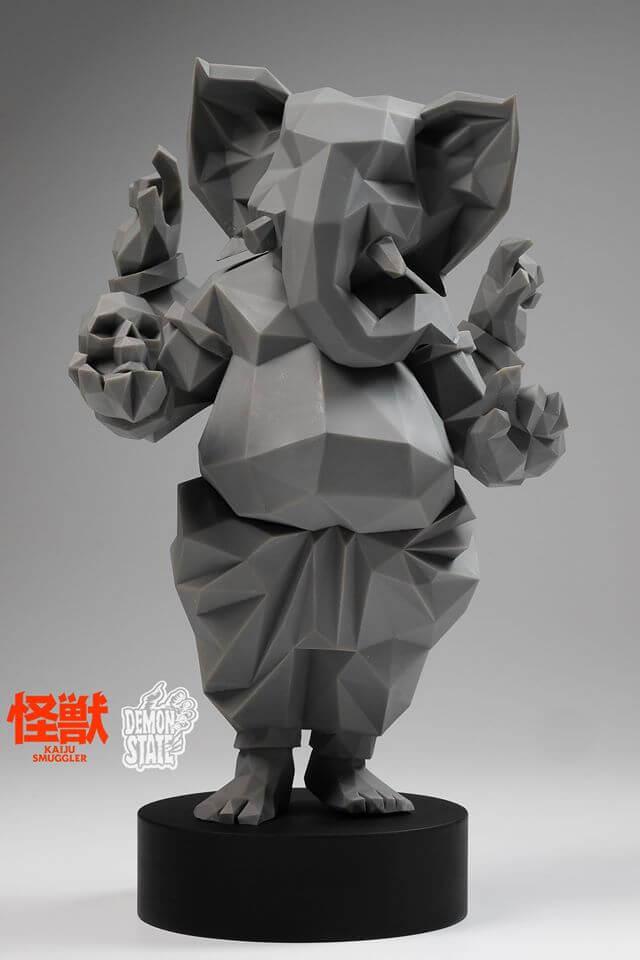 Lowpoly Ganesha By Kaiju Smuggler x Demon State TTE 2016 grey