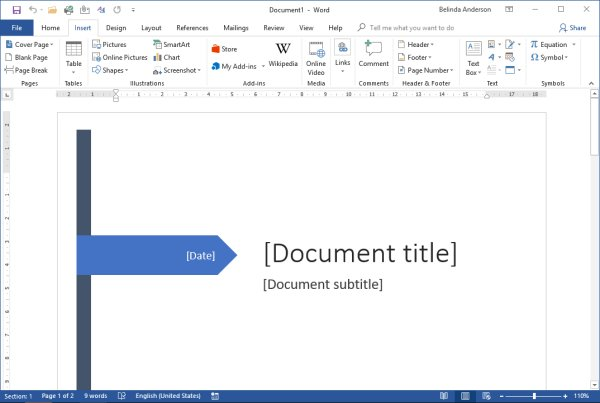 Create a quick cover page using Word - The Training Lady