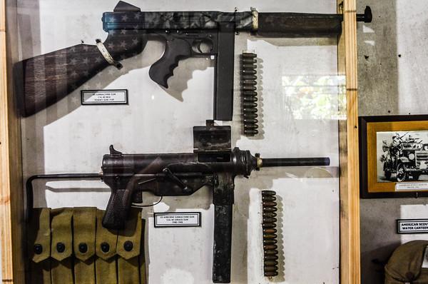 Thompson Sub Machine Gun and grease Gun