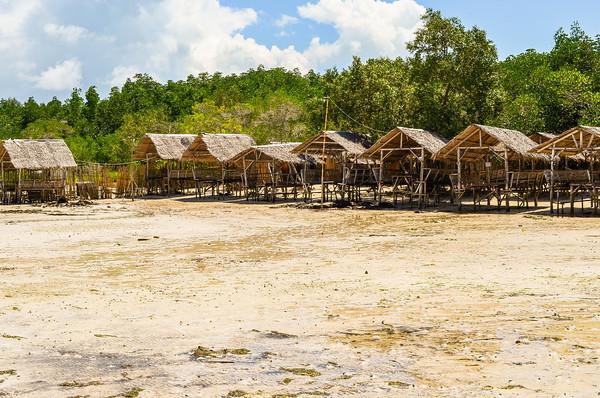 Philippine Beach Nipa Huts