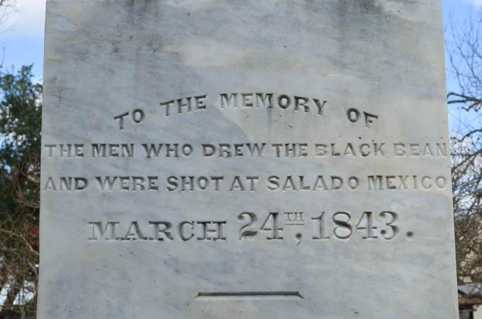 black bean monument, La Grange Texas