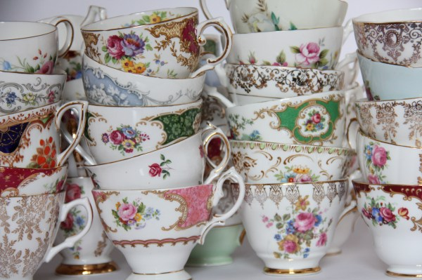 High tea or afternoon tea parties - Vintage teacups for hire in Pretoria, Johannesburg and surrounding areas