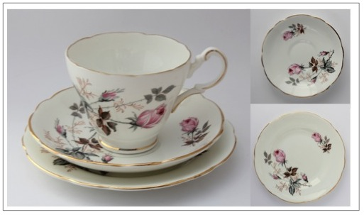 Vintage fine bone china trio - Grosvenor Jackson & Gosling