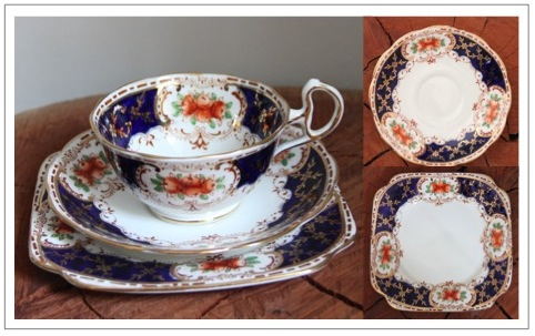 Vintage fine bone china trio - Shore & Coggins Longton