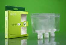 Tubism travel containers - pack of three resealing zip tubes