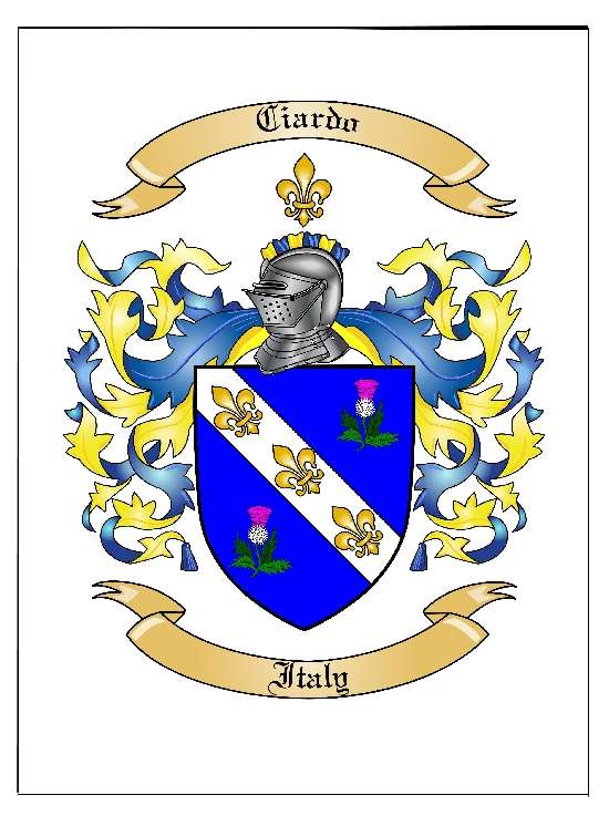 Family Coat of Arms Picture with Family Crest  Coat of Arms Symbol