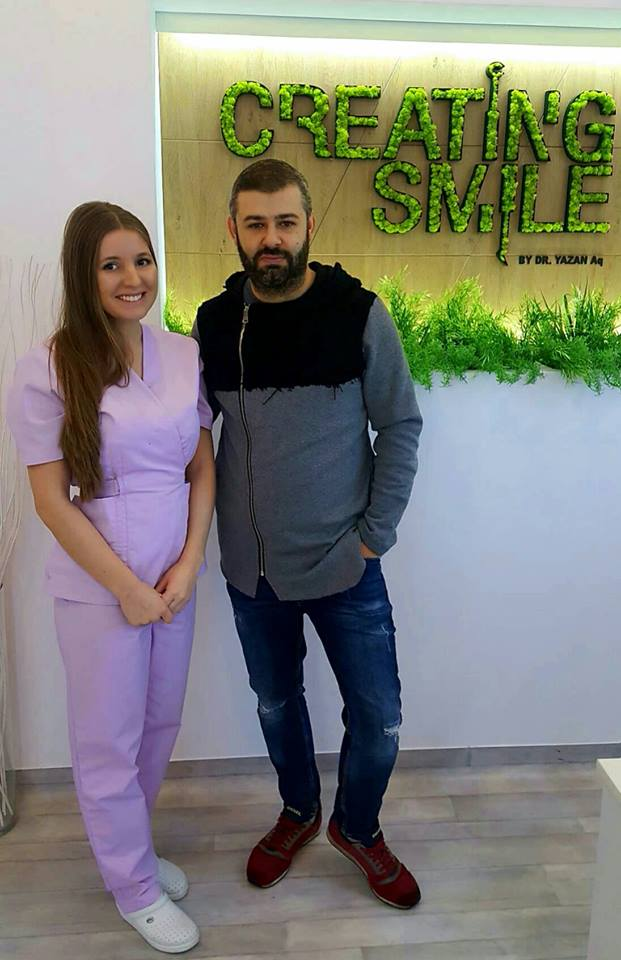 dentist creating smile