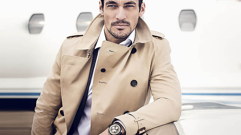 Grey Fashion Doublebreasted Wool Coat Men 2017 Trench Jackets