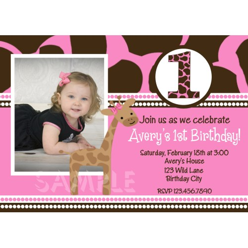 Medium Crop Of First Birthday Invitations