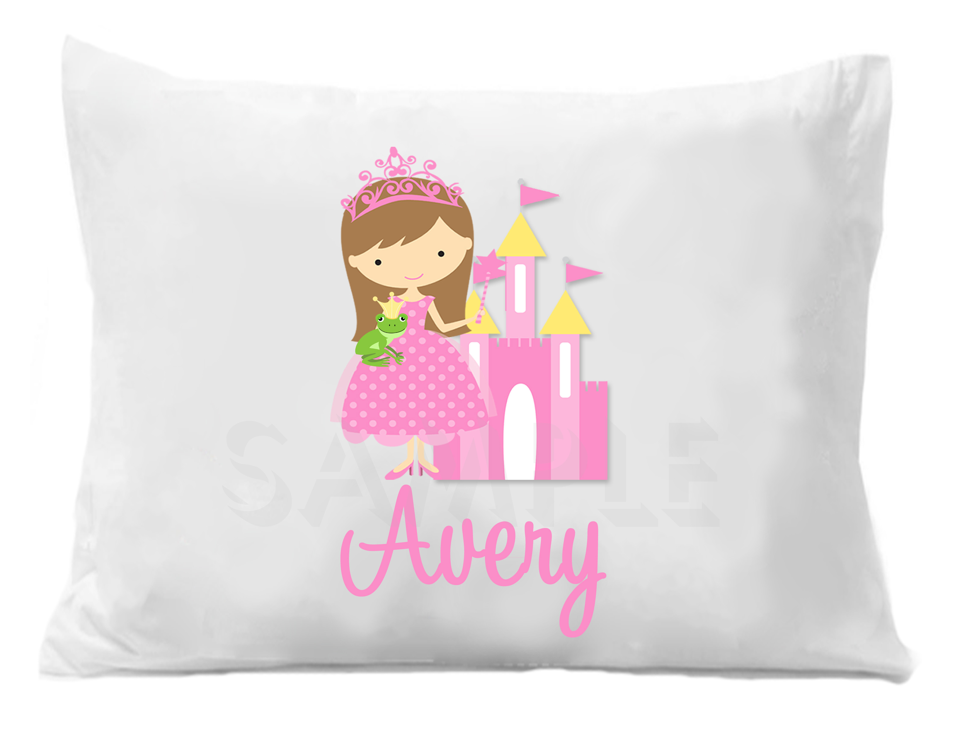 Custom Personalized Pillowcase, Princess Themed Room