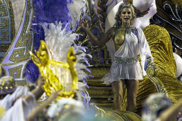 Sao Paulo's Sambadrome hosts a huge pageant with around 30,000 revellers (Photo Credit: Daily Mirror)