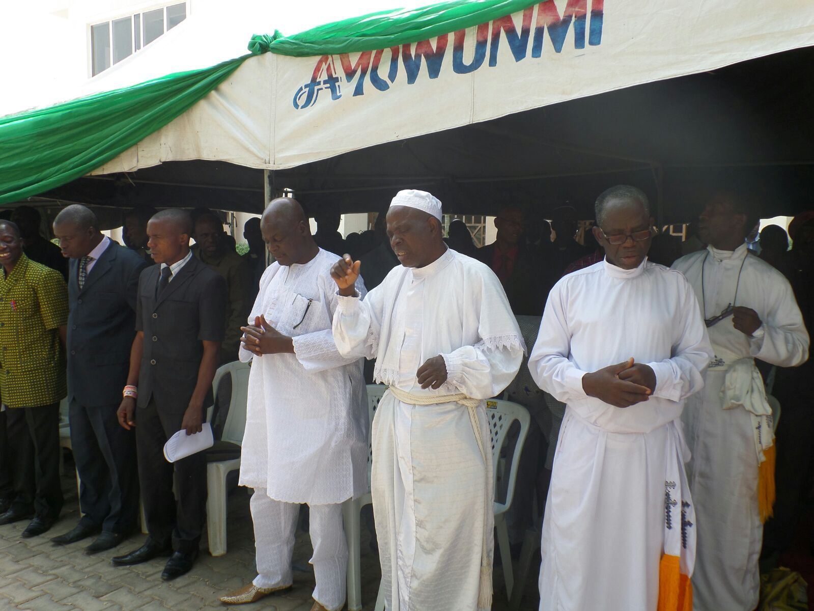 Governor Ayodele Fayose of Ekiti State holds prayer meeting with clergymen in Ado Ekiti, December 22, 2015 | Ekiti Gov't Photo