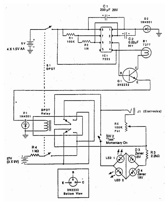 electronic zapper circuit