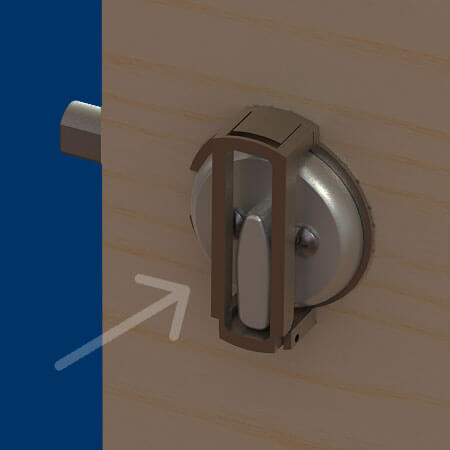 Exterior Door Latch Guard On The Right Are The 4 Components . Image Number  34 Of Childproof ...