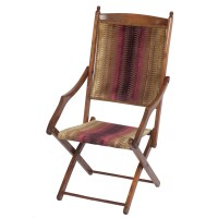Stylish Edwardian Folding Campaign Chair - The Unique Seat ...