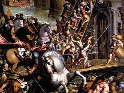 """Siege of Zadar"" by Andrea Vicentino"