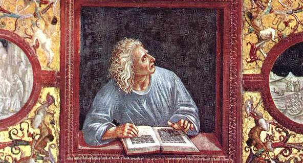 Painting of the poet by Luca Signorelli
