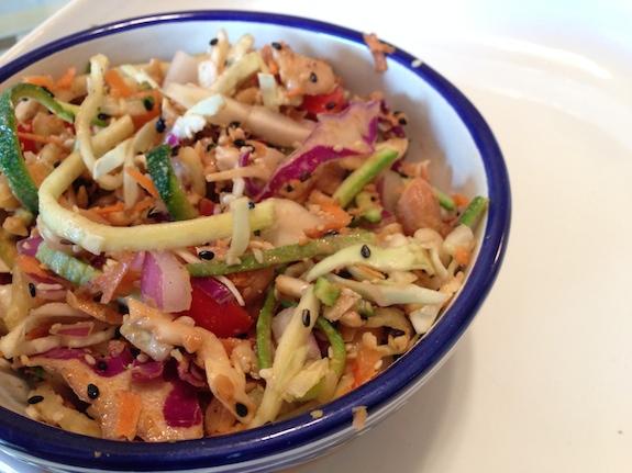 """Raw, """"Pad Thai"""" Peanut Salad"""
