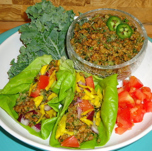 "Raw, Vegan Taco ""Meat"""