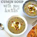 Recipe: Roasted Cauliflower & Cumin Soup with puy lentils