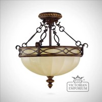 Period semi flush mounted light | Interior ceiling and ...