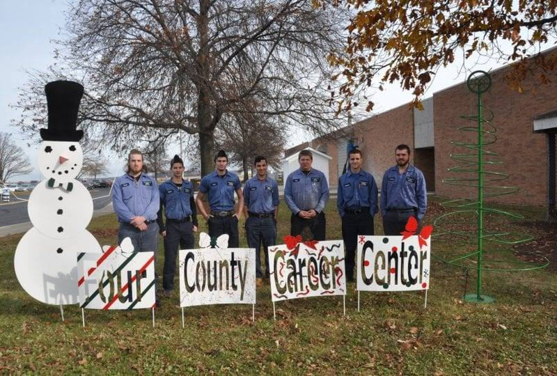 Four County Welding Fabrication Students Design Christmas Display