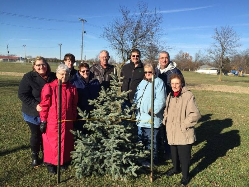 Brillhart Family Donates Tree To Village Of West Unity